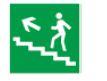 Знак «Направление к эвакуационному выходу (по лестнице налево вверх)» 150х150мм