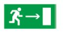 Знак «Направление к эвакуационному выходу направо» 200х100мм