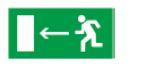 Знак «Направление к эвакуационному выходу налево» 200х100м