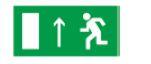 Знак «Направление к эвакуационному выходу прямо» 200х100мм