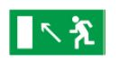 Знак «Направление к эвакуационному выходу налево вверх» 200х100мм