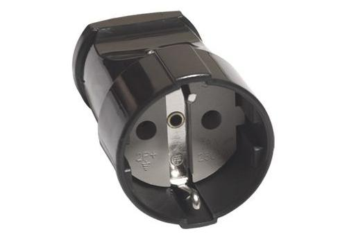 Кабельная розетка 2П+3 16А 250B черная