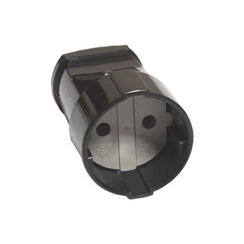 Кабельная розетка 2П б/з 10А 250B черная