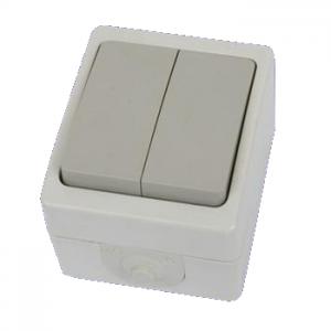 Выключатель 2-кл. открытой установки IP54 10А Вуокса