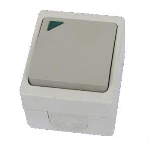 Выключатель 1-кл. с подсветкой открытой установки IP54 10А Вуокса
