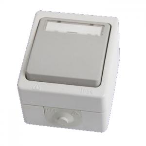 Кнопка звонковая с полем для надписи IP54 6A Вуокса