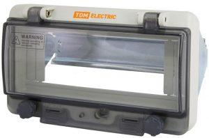 Крышка защитная для выреза в шкафу 8 модулей IP67