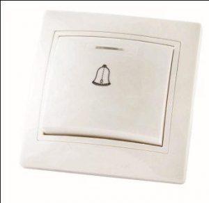 """Кнопка звонковая с подсветкой 6А белая """"Таймыр"""""""