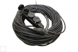 Удлинитель-шнур силовой каучук УШз16-103 IP44 3 гнезда с/з, 10м КГ 3х1,5