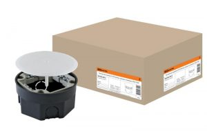 Распаячная коробка СП D103х50мм, крышка, клеммник, IP20,