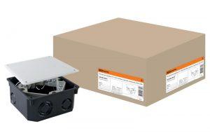 Распаячная коробка СП 110х110х50мм, крышка, клеммник, IP20