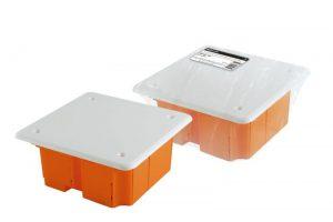 Распаячная коробка СП 92х92х40мм, крышка, IP20, инд. штрихкод