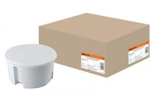 Распаячная коробка СП D80х40мм, крышка, серая, IP20