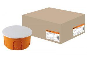 Распаячная коробка СП D80х40мм, крышка, IP20