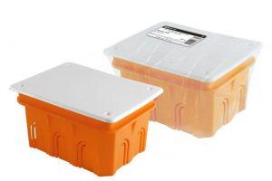 Распаячная коробка СП 120х92х70мм, крышка, IP20, инд. штрихкод