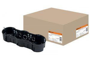 Установочная коробка СП 3-х местная, 212х70х45мм, саморезы, IP20