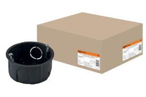 Установочная коробка СП D65х25мм, саморезы, стыковочные узлы, IP20