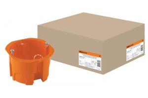 Установочная коробка СП D65х45мм, саморезы, оранжевая, IP20