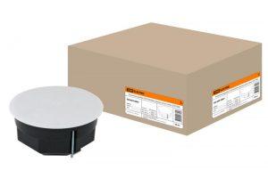 Распаячная коробка СП D103х50мм, крышка, метал. лапки, IP20