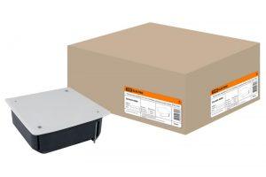 Распаячная коробка СП 115х115х45мм, крышка, метал. лапки, IP20