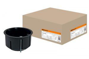 Установочная коробка СП D73х45мм, саморезы, метал. лапки, IP20