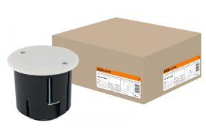 Установочная коробка СП D73х73мм, углубленная, крышка, метал. лапки, IP20