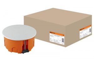 Распаячная коробка СП D80х40мм, крышка, пл. лапки, IP20