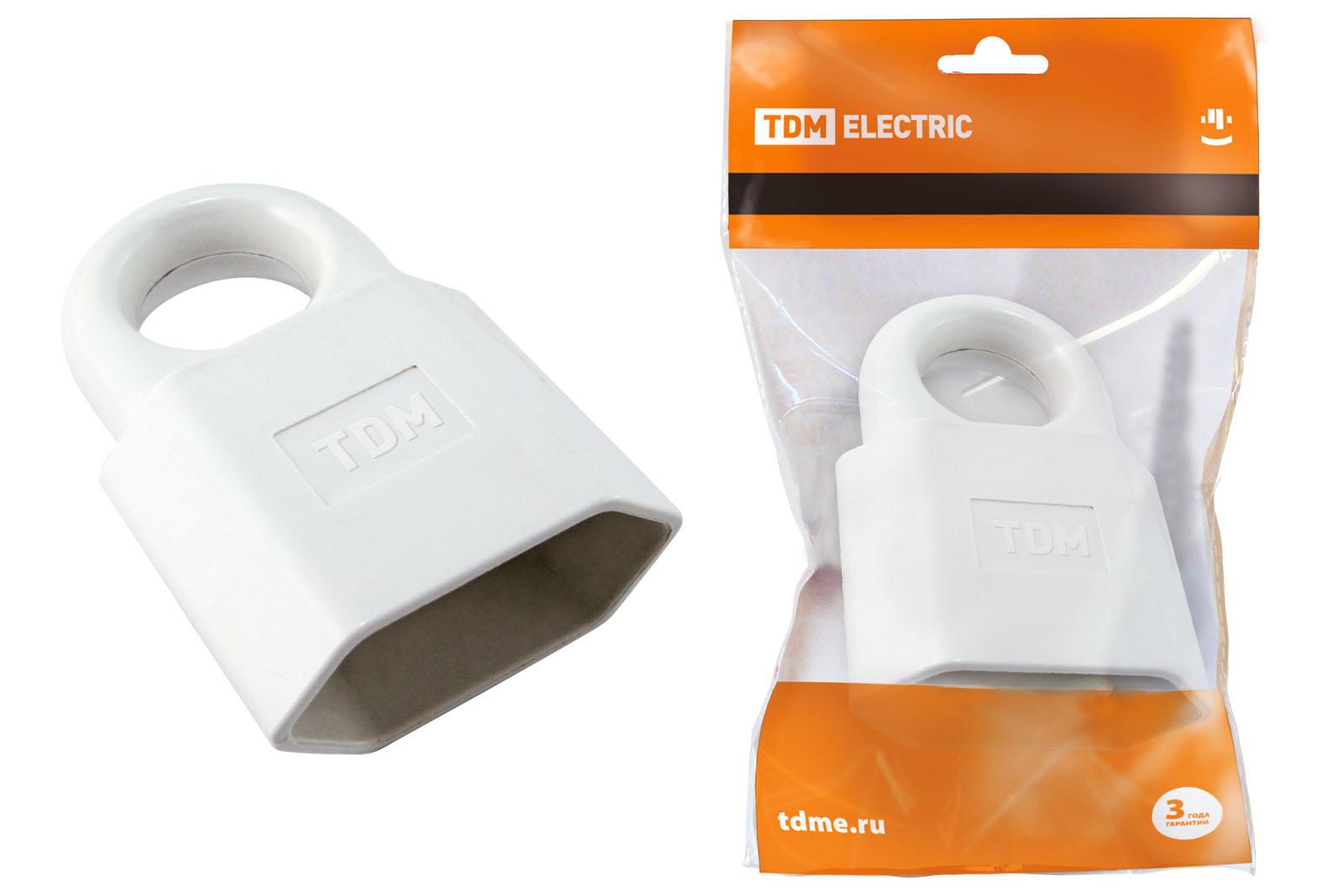 Кабельная розетка 2П 10А 250B (под евровилку CEE 7/16) с з/ш с кольцом белая