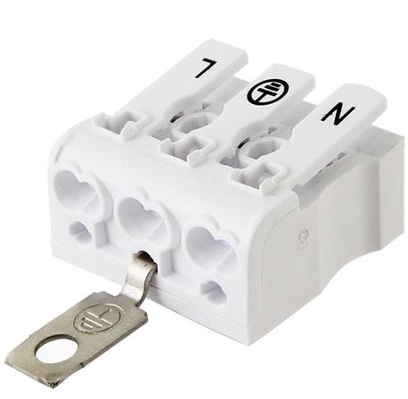 Клемма пружинная соединительная КСП3-L+N+PE, 16 A