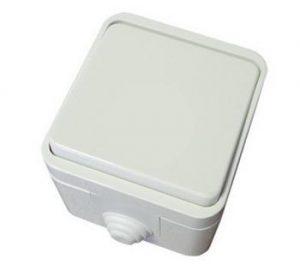 Выключатель 1-кл. ОУ IP44 10А белый Орель