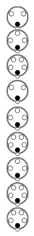 Расположение контактов у вилок