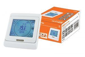 Термостат для теплых полов электронный сенсорный ТТПЭ-2 16А 250В с датчиком 3м