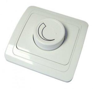 Светорегулятор (RL, 600Вт) поворотный белый Валдай