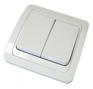 Выключатель 2-кл. 10А белый Валдай