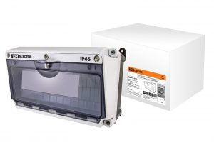 Корпус распределительного устройства КРУ, (190х265х170 мм), на 12 модулей, IP65