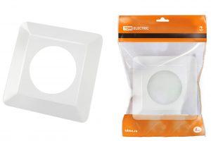 рамка для выключателей или розеток для защиты обоев 130х130 мм, белая