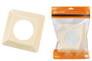рамка для выключателей или розеток для защиты обоев 130х130 мм, сл. кость