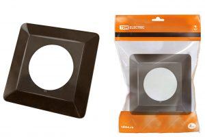 рамка для выключателей или розеток для защиты обоев 130х130 мм, шоколад