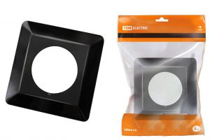 рамка для выключателей или розеток для защиты обоев 130х130 мм, антрацит